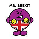 MR. BREXIT - MR MEN-STYLE ILLUSTRATION OF A RIGHT-WING, EURO-HATING BREXITER by Clifford Hayes