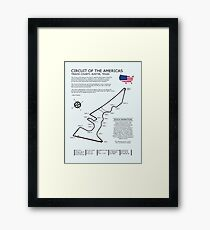 The Circuit of the Americas Framed Print