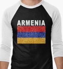 Armenia Flag High Detail Artistic Men's Baseball ¾ T-Shirt