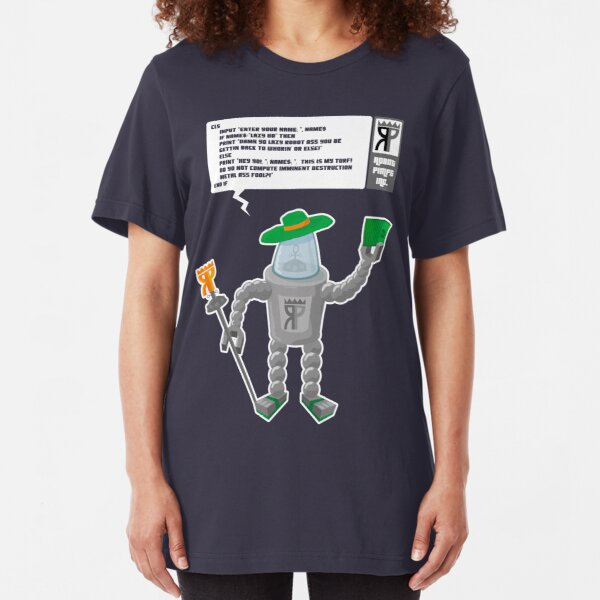 Robot Pimps Inc.  - Line 20 - Dark Slim Fit T-Shirt