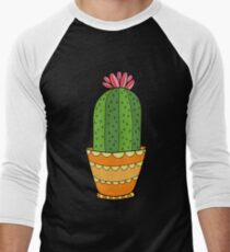 Succulent and Cactus Flowers Pattern Men's Baseball ¾ T-Shirt