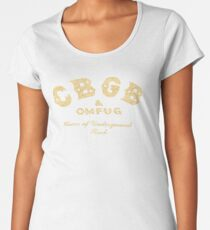 BEST SELLERS KT853 Cbgb & Omfug Home Of Underground Rock Punk Trending Women's Premium T-Shirt