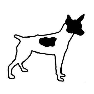 rat terrier color silhouette by marasdaughter