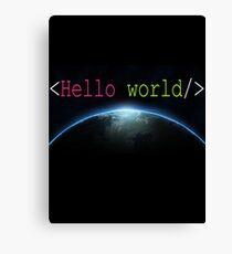 Hello world c++ t-shirt - Hello World Programming Canvas Print