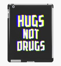 Hugs Not Drugs TV Glitch Effect - Anti-Drug Awareness Gift iPad Case/Skin