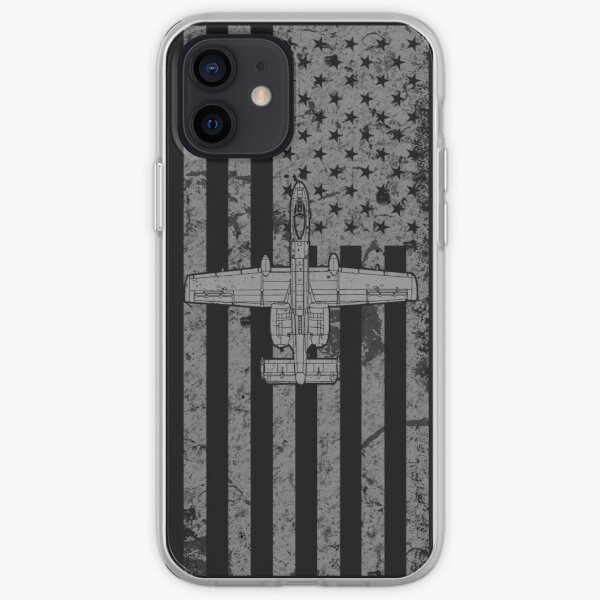 A-10 Warthog Flag Phone Case, Distressed iPhone Soft Case