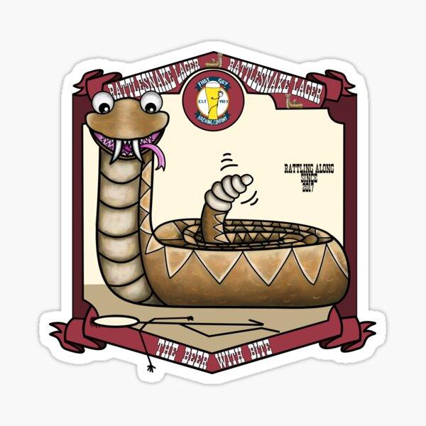 Rattlesnake Lager Sticker