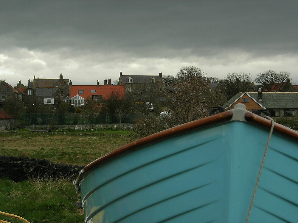 Blue Boat by Christine Leman-Riley