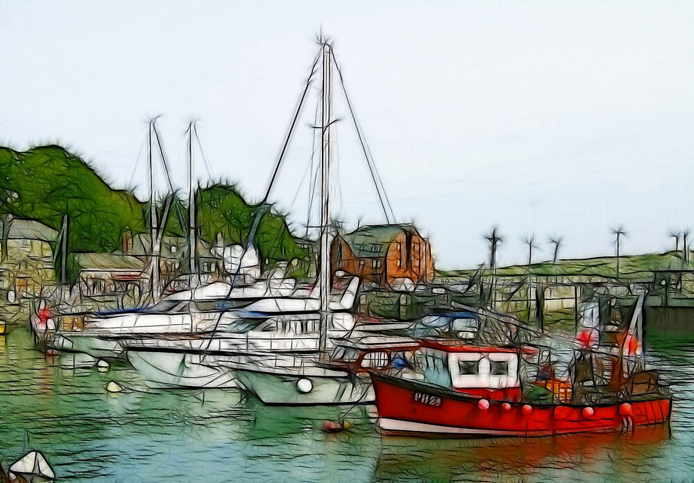 Cornish Harbour by len Janes