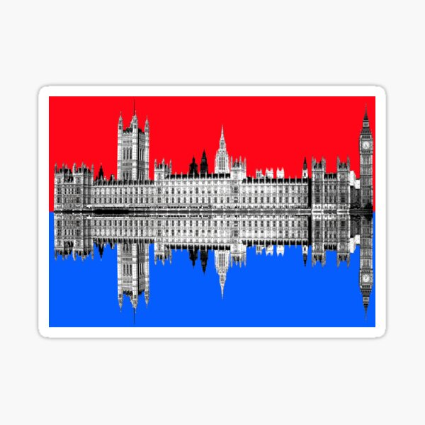 Palace Of Westminster - Red Sticker