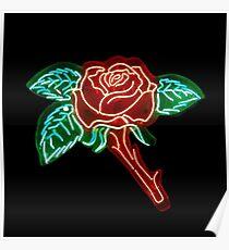 Neon Rose Poster