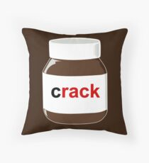 Chocolatey Crack Throw Pillow