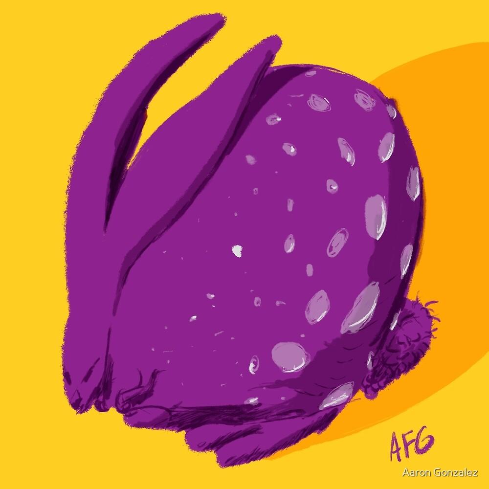 Purple Polka Dot Rabbit by Aaron Gonzalez
