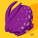 Purple Polka Dot Rabbit by Aaron Gonzalez