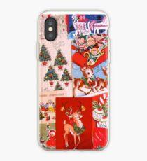 Vintage Weihnachtskarten 2 iPhone-Hülle & Cover
