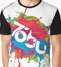 Colorful Tobu Splash Graphic T-Shirt