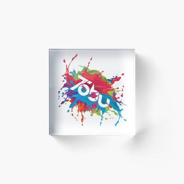 Colorful Tobu Splash Acrylic Block