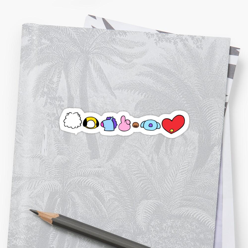 BTS-Zeichen horizontal Sticker