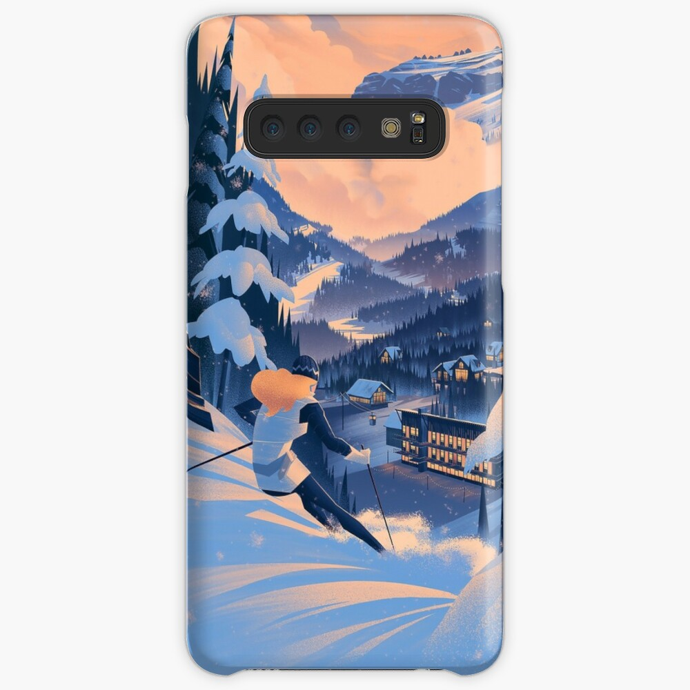 Zuckerdose, Ski Poster Hülle & Klebefolie für Samsung Galaxy
