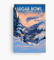 Sugar Bowl, Ski Poster Canvas Print