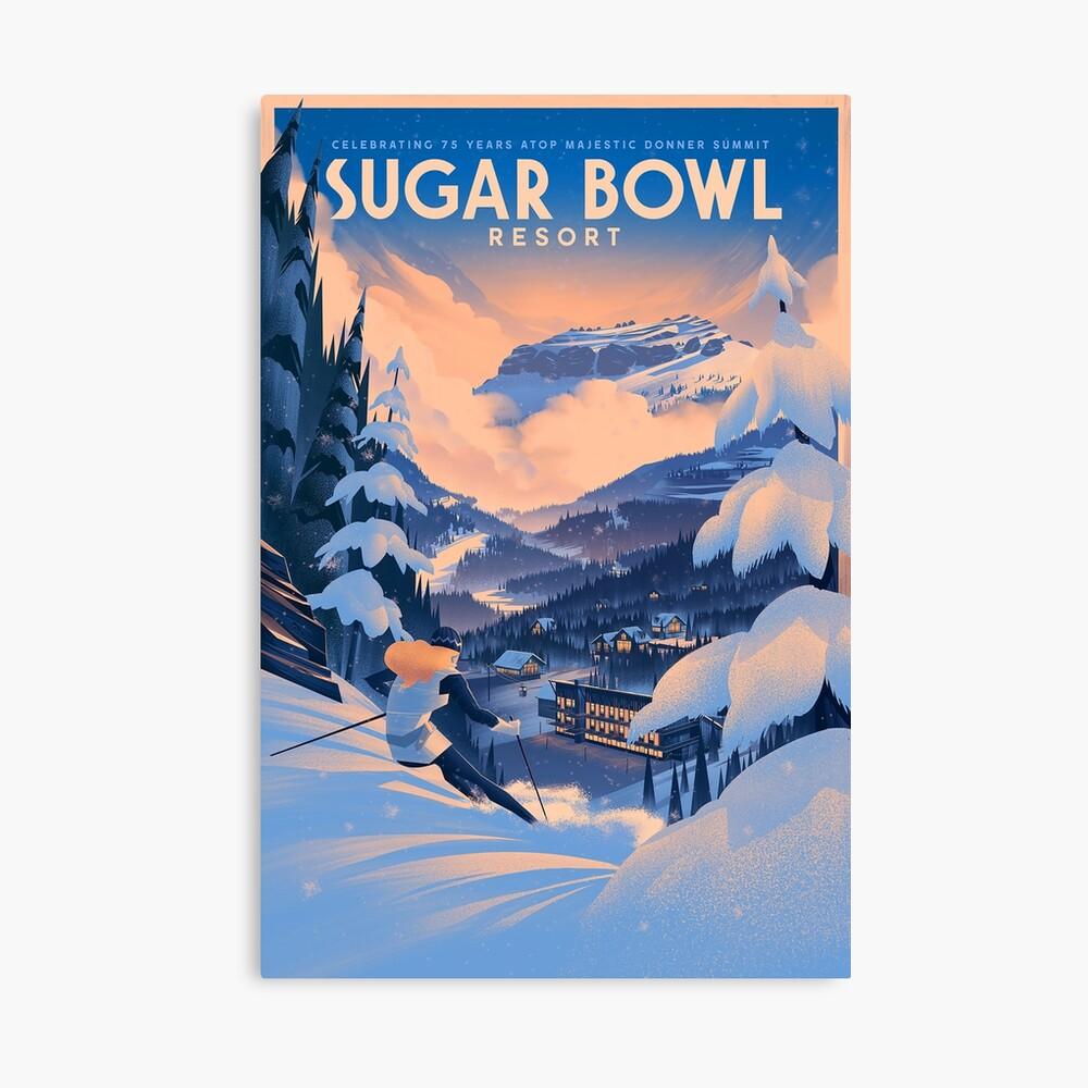 Zuckerdose, Ski Poster Leinwanddruck