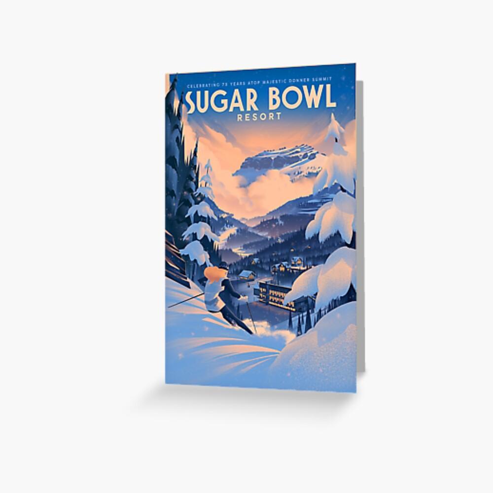 Zuckerdose, Ski Poster Grußkarte