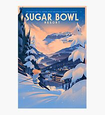 Sugar Bowl, Ski Poster Photographic Print