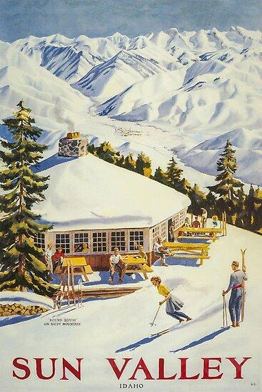 Sun Valley, Ski Poster von BokeeLee