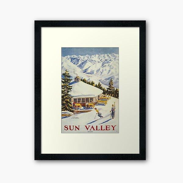Sun Valley, Ski Poster Framed Art Print