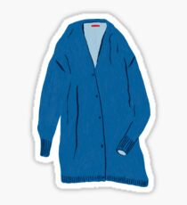 Blue Coatigan Sticker