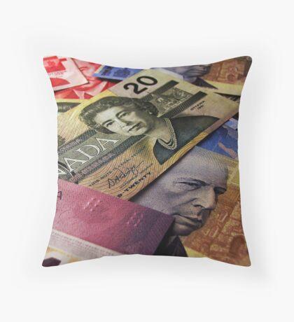 The Colour of Money Throw Pillow