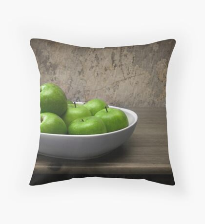 The Apple Bowl Throw Pillow