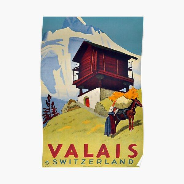 Valais, Switzerland, Ski Poster Poster