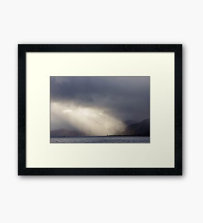 This Is The Point Framed Print