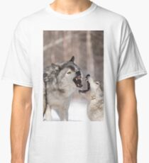 Timber wolves in winter Classic T-Shirt