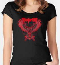 ALL TIME BEST SELLING IH110 Kvelertak Robot Owl Norwegian New Product Women's Fitted Scoop T-Shirt