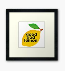 Good God Lemon Sticker & T-Shirt - Gift For TV Lover Framed Print