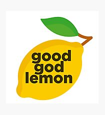 Good God Lemon Sticker & T-Shirt - Gift For TV Lover Photographic Print