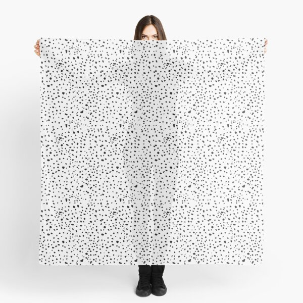 spotty dotty in black and white Scarf
