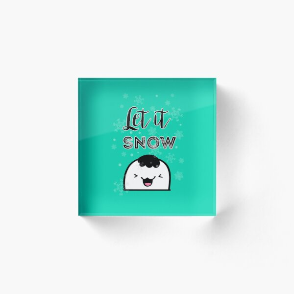 Let it Snow! Acrylic Block