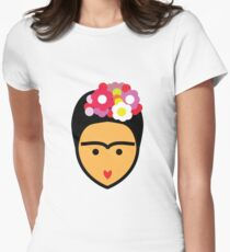 Frida Kahlo Vector Women's Fitted T-Shirt