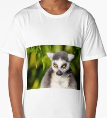 Spaced Out Staring Lemur Long T-Shirt