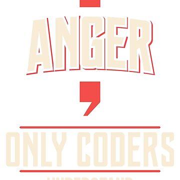 Anger only coder understand geek nerd by technolover