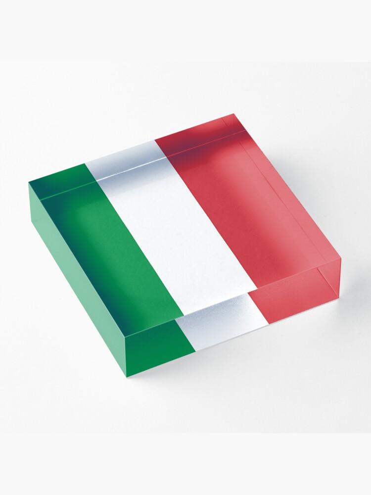 Alternative Ansicht von Italienische Flagge Acrylblock