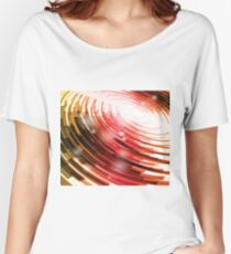 Yellow Black Red Circle on a White Background Abstract Art Women's Relaxed Fit T-Shirt