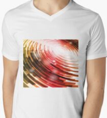 Yellow Black Red Circle on a White Background Abstract Art Men's V-Neck T-Shirt