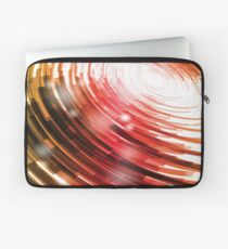 Yellow Black Red Circle on a White Background Abstract Art Laptop Sleeve