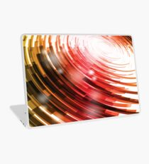 Yellow Black Red Circle on a White Background Abstract Art Laptop Skin