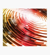 Yellow Black Red Circle on a White Background Abstract Art Photographic Print