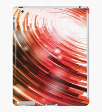 Yellow Black Red Circle on a White Background Abstract Art iPad Case/Skin